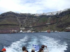 テンダーボートでコスタフォーチュナ号へ戻る